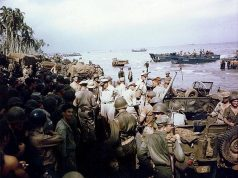 Field Marshal Douglas MacArthur on Leyte Island
