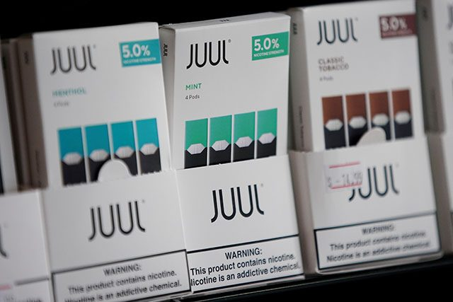 Juul brand vape cartridges are pictured for sale at a shop in Atlanta