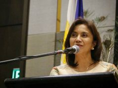 Leni Robredo in podium