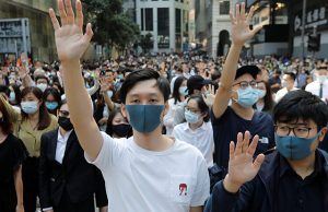 Protesters in Central District of HK