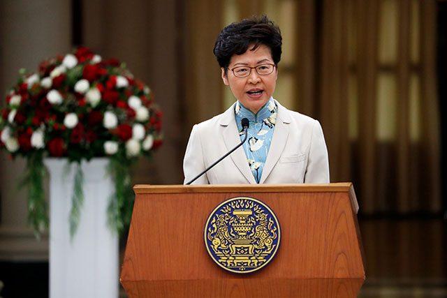 Hong Kong Chief Executive Carrie Lam visits Bangkok