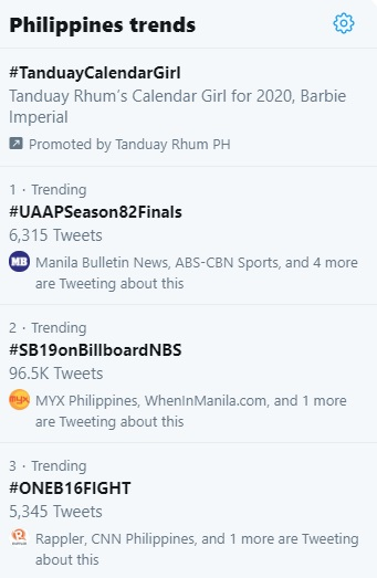 Twitter PH trends