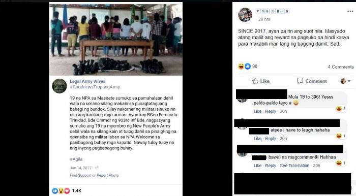 Philippine Army's manipulated photo