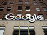 Google logo in New York
