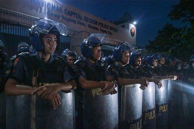 Police in Camp Bagong Diwa