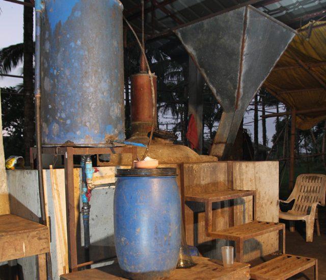 Lambanog factory