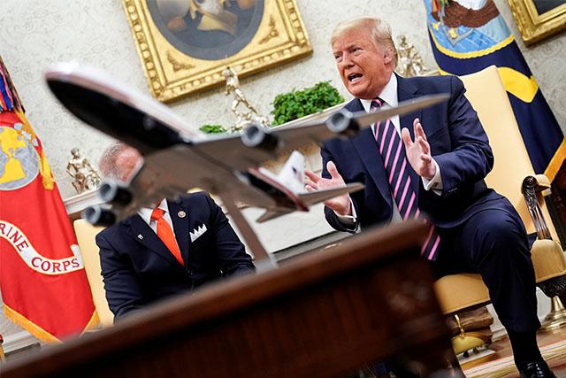 Donald Trump with Republicans