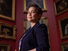 Lea Salonga in a gallery