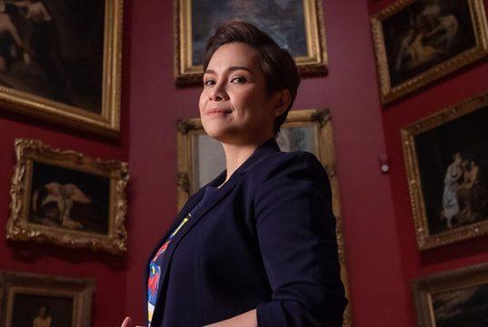 Lea Salonga in a gallery