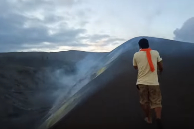 A cause for alarm: Video of man dangerously walking near Taal Volcano