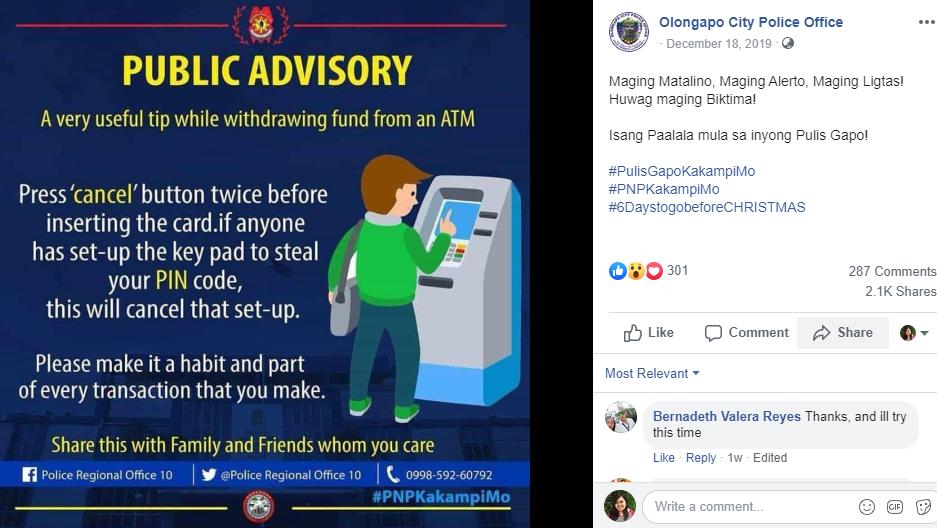Olongapo FB post