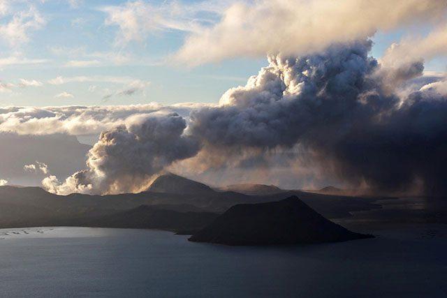 Taal Volcano at sunrise