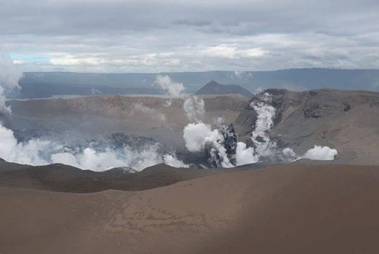 Taal Volcano's crater
