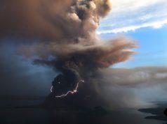 Volcanic eruption Taal volcano