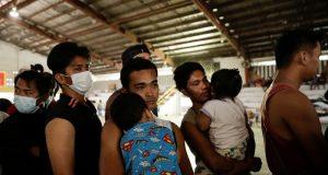 Taal Volcano evacuees