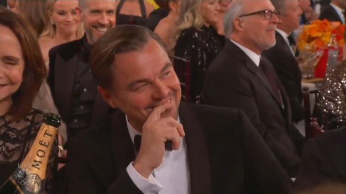 Leonardo di Caprio at the Golden Globes