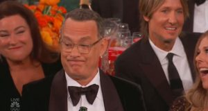 Tom Hanks at the Golden Globes