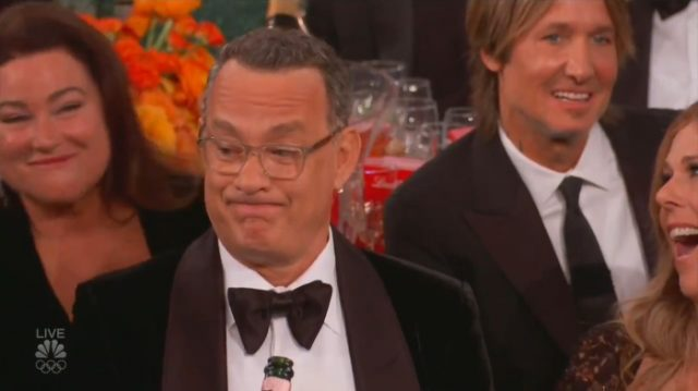 Tom Hanks at the Golden Globes