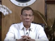 Duterte in a video message