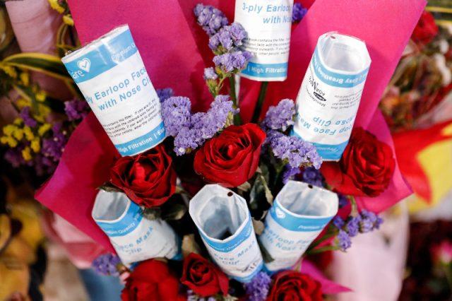 Face masks bouquet