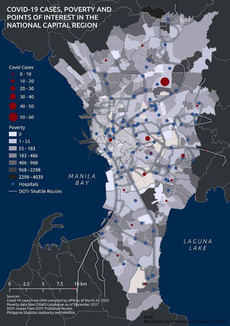 Metro Manila poverty map and the poor population