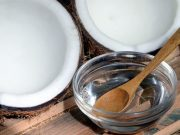 Coconut oil with bowl