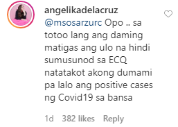 Comment on Angelika dela cruz post