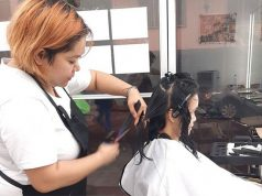 Salon customer