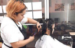 Salon customer