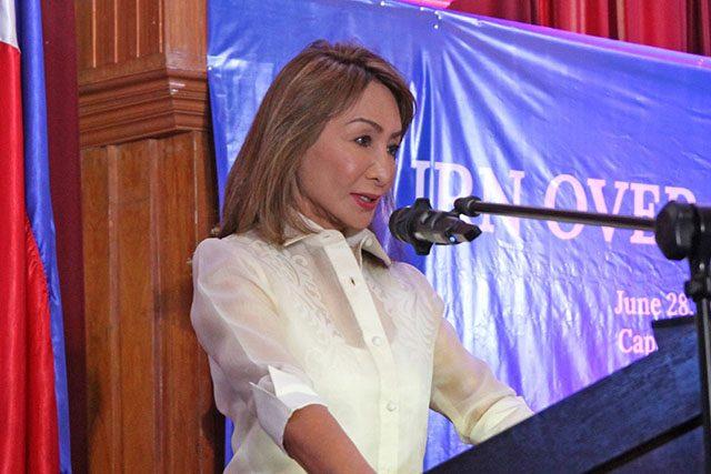Gwen Garcia in podium