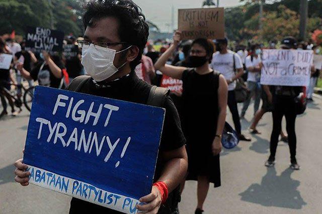 Protester against anti-terror bill