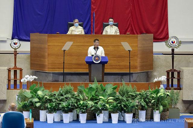 Duterte's backdrop in SONA 2020