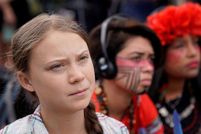 Greta Thunberg close up