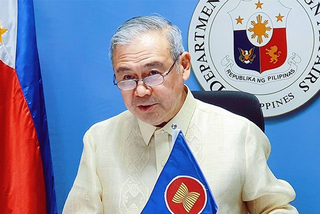 Teddy Locsin in office