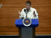 Rodrigo Duterte during SONA 202