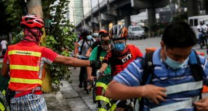 Bikers in EDSA