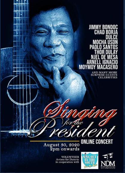 Duterte online concert