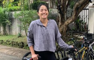 Gretchen Ho with bikes