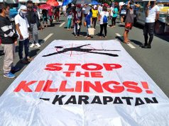 Stop the Killings tarpaulin