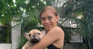 Alyssa Valdez with dog