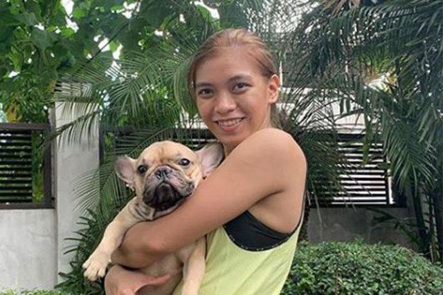 Alyssa Valdez with dog