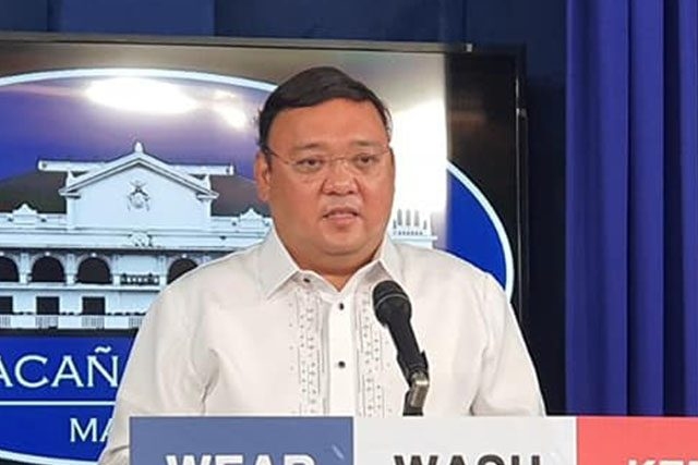 Harry Roque in briefing