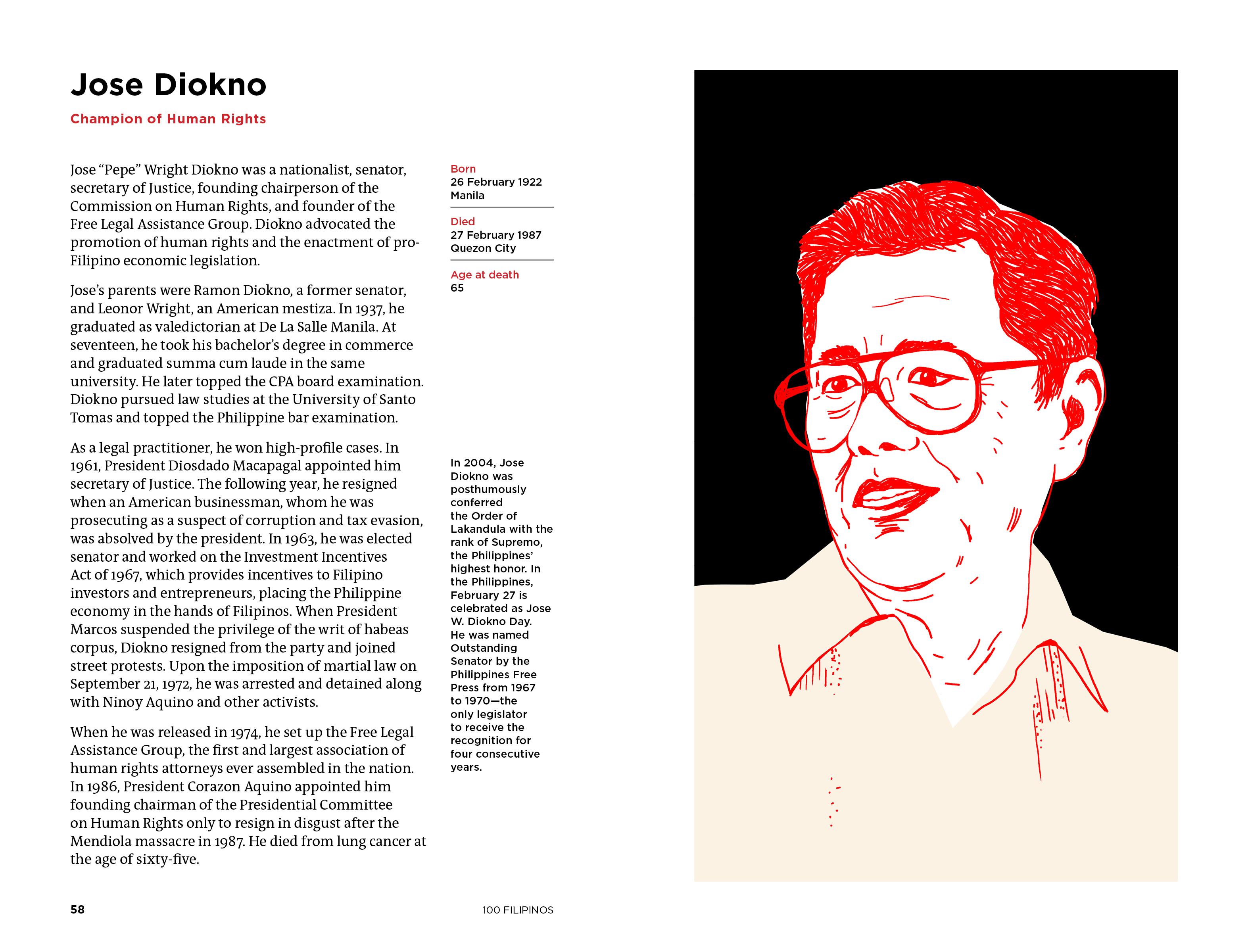Jose Diokno illustration
