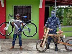 Makeshift bicycles