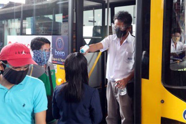 Bus commuters