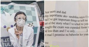 Tricia Robredo and letter
