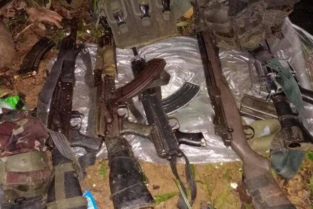Weapons seized by AFP