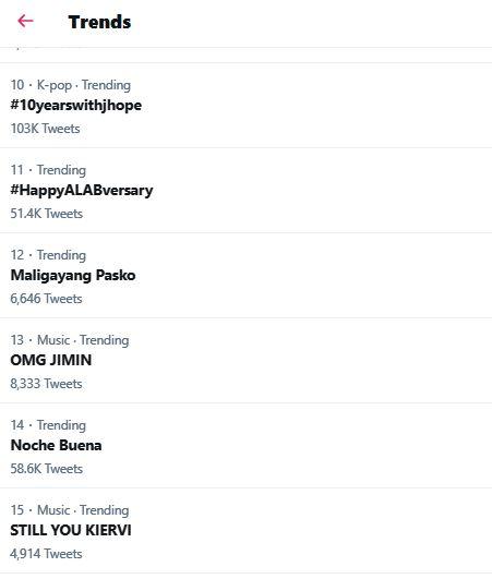 Noche Buena trending