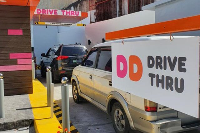Dunkin Donuts drive-thru