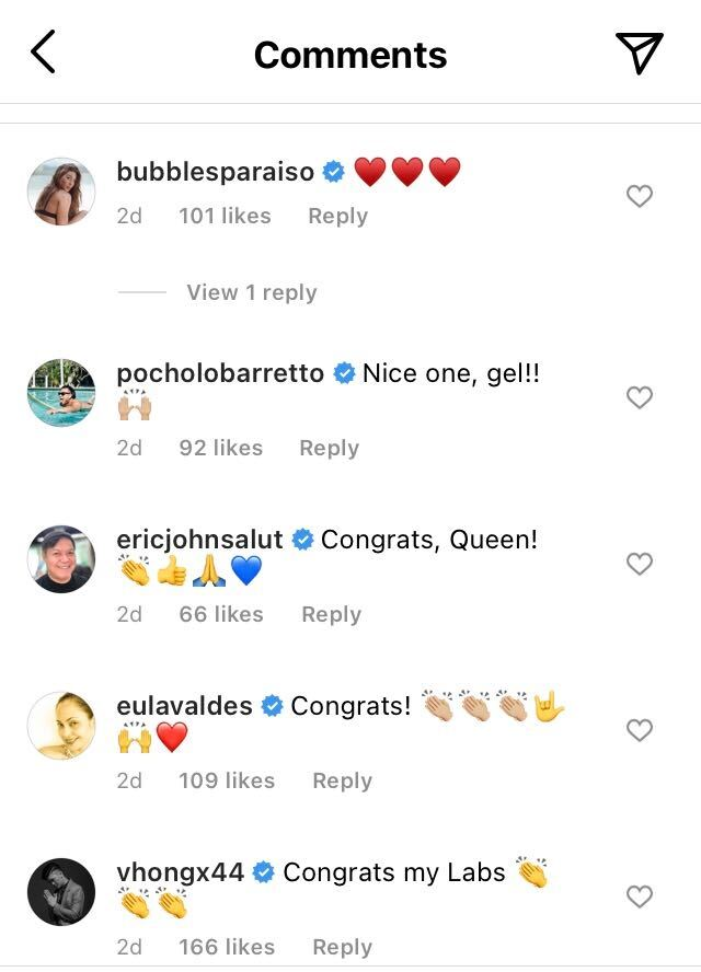 Comments from Angel Locsin's Instagram